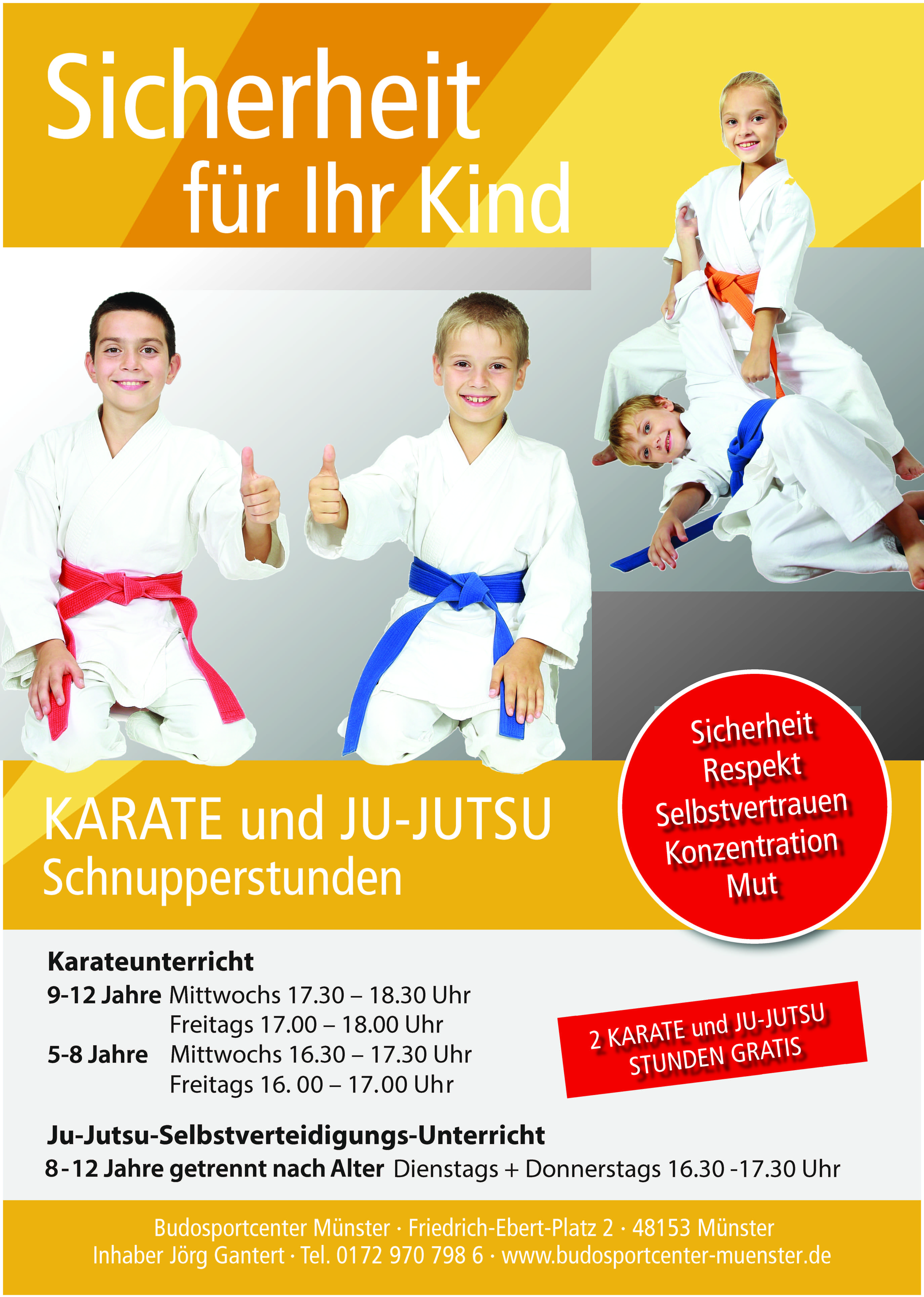 Budosport fleyer kinderkarate